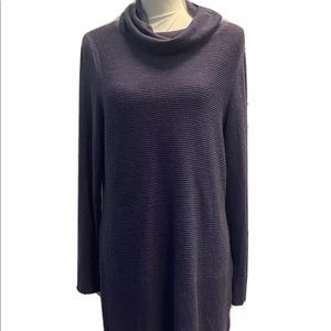 Women's Long Sleeve, Cowl Neck Knit Sweater in Frosted Heather. Size L